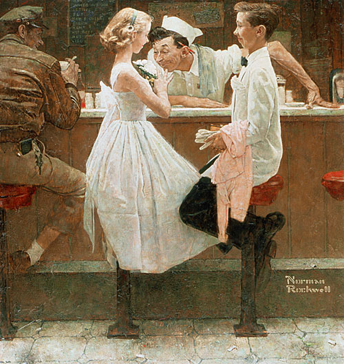 Image result for norman rockwell after the prom