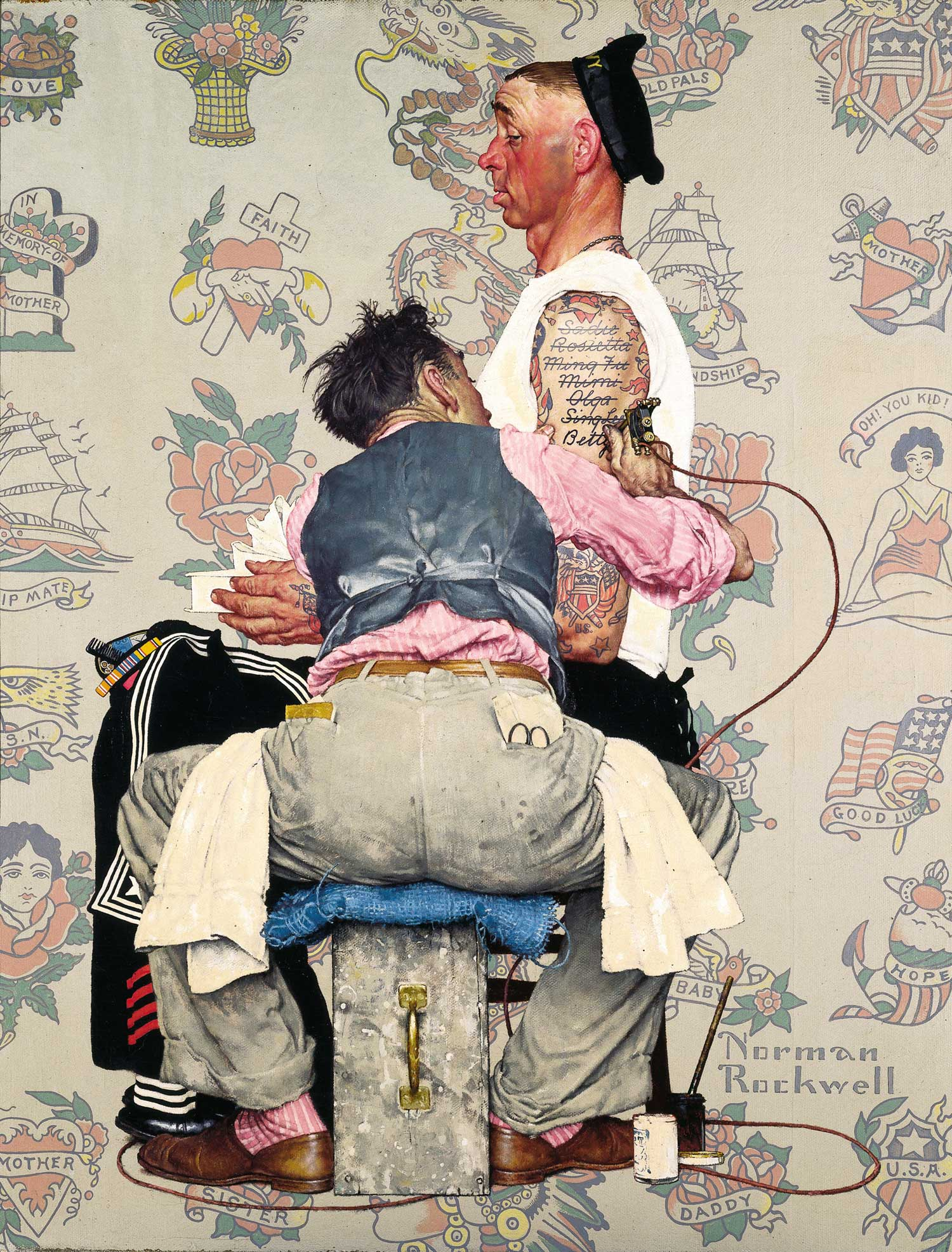 Tattoo artist norman rockwell museum the home for for Norman rockwell tattoo