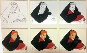 "Jon Whitcomb, ""Portrait in Stages of Development,"" c. 1948"