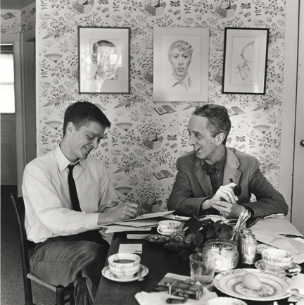 Photo of Thomas and Norman Rockwell working on