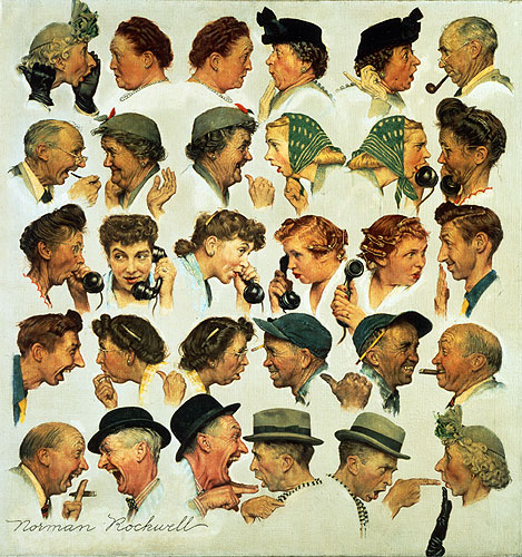 "Norman Rockwell Museum Welcomes Back Norman Rockwell's ""The Gossips"" -  Norman Rockwell Museum - The Home for American Illustration"