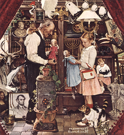 "Norman Rockwell (1894-1978), ""April Fool: Girl with Shopkeeper,"" 1948"