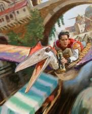 Will Arrives (detail) by James Gurney ©2006 James Gurney