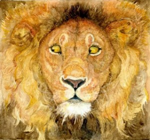 Jerry Pinkney's Caldecott-winning book, The Lion and the Mouse.