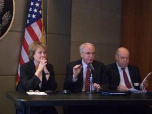 US Embassy Moscow Closing Plenary Session. Under Secretary Judith McHale, Ambassador John Beyrle and Ambassador Mikhail Shvydkoy