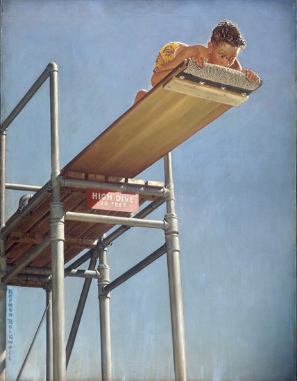 """Boy on a High Dive,"""" Norman Rockwell, 1947 - Norman Rockwell ..."""
