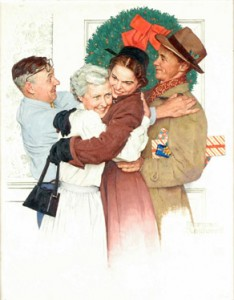 """""""Home for Christmas,"""" Norman Rockwell"""