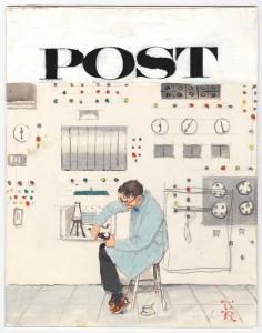 """Computer Scene,"" Norman Rockwell, c. 1960."