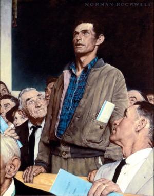 """Freedom of Speech,"" Norman Rockwell. 1943."