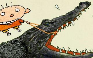 """Illustration (detail) for """"Stalling,"""" Elwood H. Smith."""