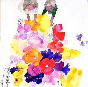 """""""Flower Hand-cart,""""  Chihiro Iwasaki, 1967."""