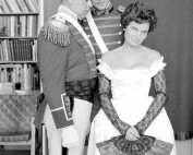 Senator John H. Fitzpatrick, Dr. Ian Story, and Jane Fitzpatrick posing for