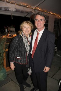 David Macaulay, Norman Rockwell Museum's 2011-2012 Artist Laureate; with Barbara Nessim, the Museum's inaugural Laureate, at the awards dinner on September24, 2011. Photo by Norman Rockwell Museum. All rights reserved.