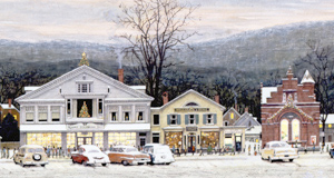 """Stockbridge Mainstreet at Christmas (Home for Christmas),"" 1967."