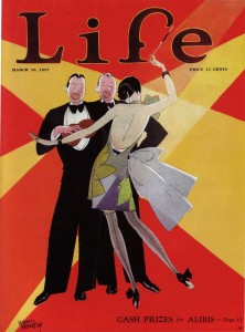 """Life"" magazine cover illustration by Russell Patterson (1896-1977), March 10, 1927. All rights reserved. Courtesy S. Jaleen Grove."