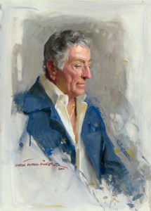 "Portrait of Tony Bennett, by Everett Raymond Kinstler, 2006. Oil on canvas. 24"" x 36"". Collection of the artist. ©2006 Everett Raymond Kinstler. All rights reserved."