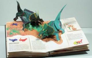 "Robert Sabuda pop-up illustration from ""Dinosaurs (Encyclopedia Prehistorica Series)"" by Robert Sabuda and Matthew Reinhart. Published by Candlewick Press, 2005. Artwork ©Robert Sabuda. All rights reserved."