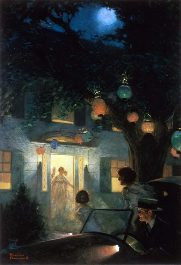 And The Symbol Of Welcome Is Light Norman Rockwell