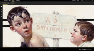 Close-up from Norman Rockwell Museum's page on The Google Art Project. Courtesy Google.