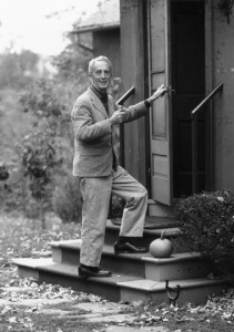 Norman Rockwell enters his Stockbridge studio. Photo by Louie Lamone. Norman Rockwell Museum Digital Collections. ©NRELC: Niles, IL.
