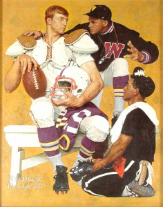 """""""The Recruit,"""" Norman Rockwell. 1966. Casein, oil and acrylic on canvas. Story Illustration for """"Look,"""" September 20, 1966. Norman Rockwell Museum Collections. ©NRELC: Niles, IL."""