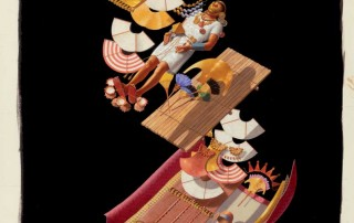 """A Moche Tomb in Sumptuous Layers,"" Ned M. Seidler, 1988. Gouache on paper. Norman Rockwell Museum Collections, gift of the estate of the artist. ©National Geographic. All rights reserved."