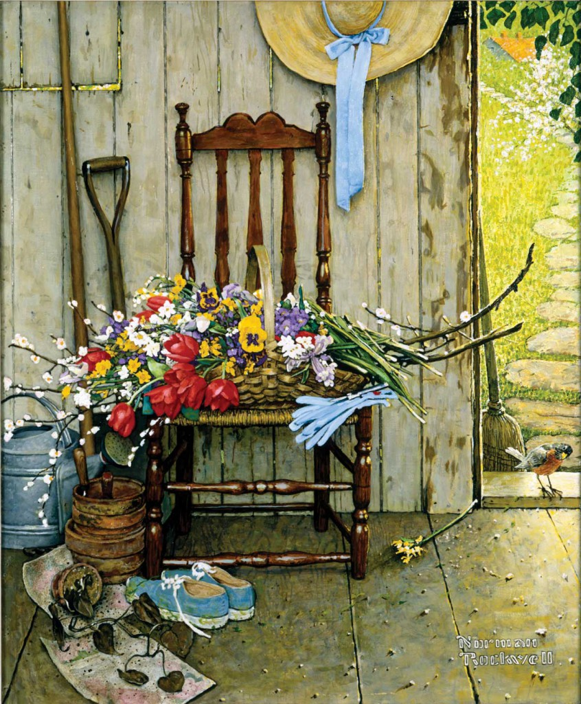 &quot;Spring Flowers,&quot; Norman Rockwell. 1969. Oil on canvas, 30 3/8&quot; x 25&quot;. Story illustration for &quot;McCall's,&quot; May 1969. Norman Rockwell &#91;...&#93;</p></noscript></div></div><div class=