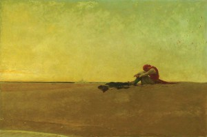 "Marooned,"" 1909 Howard Pyle (1853-1911). Oil on canvas, 40"" x 60"". Delaware Art Museum, Museum Purchase, 1912"