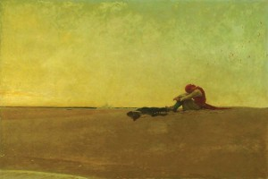"""Marooned,"" 1909 Howard Pyle (1853-1911). Oil on canvas, 40"" x 60"". Delaware Art Museum, Museum Purchase, 1912"