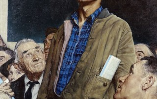 "Norman Rockwell (1894-1978), ""Freedom of Speech,"" 1943."