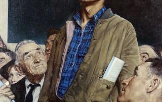 "Norman Rockwell (1894-1978), ""Freedom of Speech,"" 1943."
