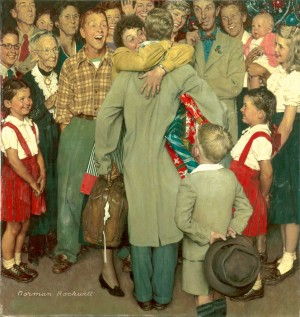 Christmas Homecoming, 1948, Norman Rockwell (1894-1978). Norman Rockwell Museum Collections. ©1948 SEPS: Curtis Publishing, Indianapolis, IN
