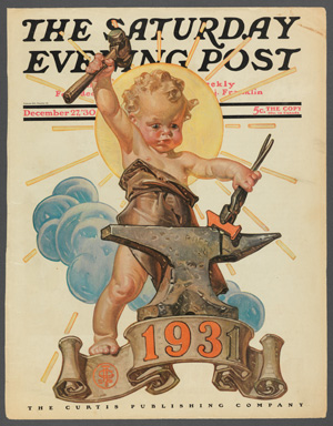 "J.C. Leyendecker (171-1951), ""Forging a New Year,"" 1930"