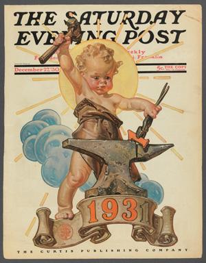 """J.C. Leyendecker (171-1951), """"Forging a New Year,"""" 1930"""