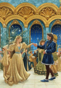 "Illustration from ""The Twelve Dancing Princesses"" by Ruth Sanderson, 1990. ©Ruth Sanderson. All rights reserved."