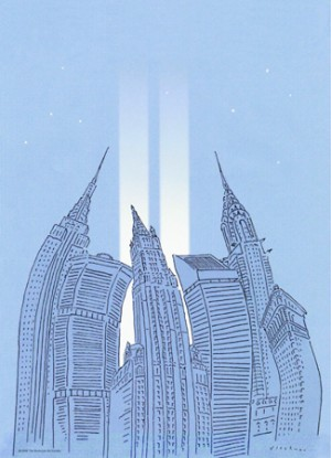 "mage to the World Trade Center,"" 2006. For the Municipal Art Society. ©R.O. Blechman. All rights reserved."