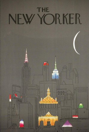 "R.O. Blechman (b. 1930), ""New York at Night,"" 1979. Cover illustration for ""The New Yorker"" (October 1, 1979). ©R.O. Blechman. All rights reserved."