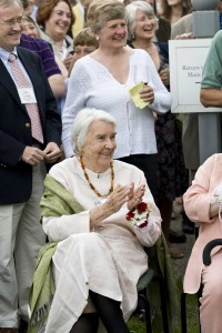 Norma Greer Ogden, founder of The Old Corner House, celebrates at Norman Rockwell Museum's 40th anniversary celebration, June 9, 2009. Photo by Sarah Edwards. ©Norman Rockwell Museum. All rights reserved.