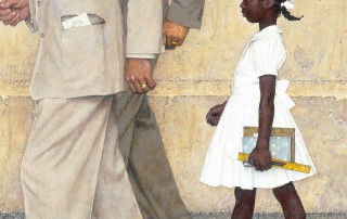 """The Problem We All Live With"" (detail), Norman Rockwell, 1963. Norman Rockwell Museum Collections. ©NRELC: Niles, IL."