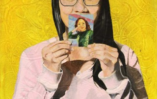 "San-Yung Hung, ""Mom and I,"" 2013. Miss Hall's School. Acrylic. 12"" x 16"". ©San-Yung Hung. All rights reserved."
