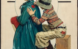 """Norman Rockwell (1894-1978), """"She's My Baby,"""" 1927. Oil on canvas. Cover illustration for """"The Saturday Evening Post,"""" June 4, 1927. Collection of Mr. and Mrs. William M. Young, Jr. ©1927 SEPS: Curtis Publishing, Indianapolis, IN"""
