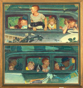 "Norman Rockwell (1894-1978), ""Going and Coming,"" 1947. Norman Rockwell Museum Collections. ©SEPS: Curtis Publishing, Indianapolis, IN."