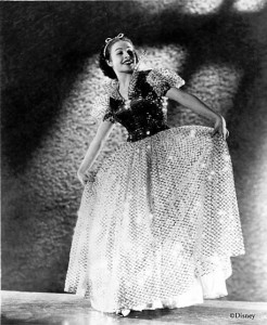 """Reference photo of Marge Champion (then Marjorie Belcher), the live reference model for Walt Disney's """"Snow White and the Seven Dwarfs."""" Photo courtesy Marge Champion. ©Disney."""