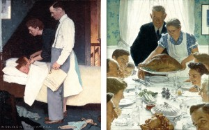 "Norman Rockwell (1894-1978), ""Freedom From Fear"" and ""Freedom From Want,"" 1943"
