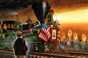 """Wendell Minor, """"Abraham Lincoln Comes Home,"""" 2008."""