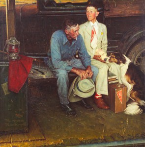 "Norman Rockwell (1894-1978). ""Breaking Home Ties,"" 1954"