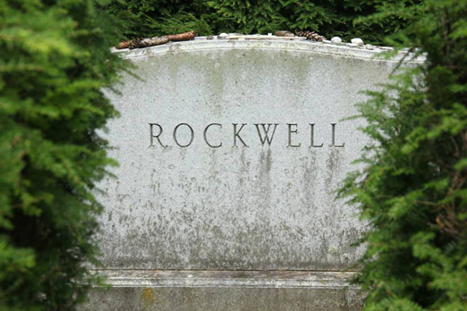 Norman Rockwell gravesite, Stockbridge Cemetery