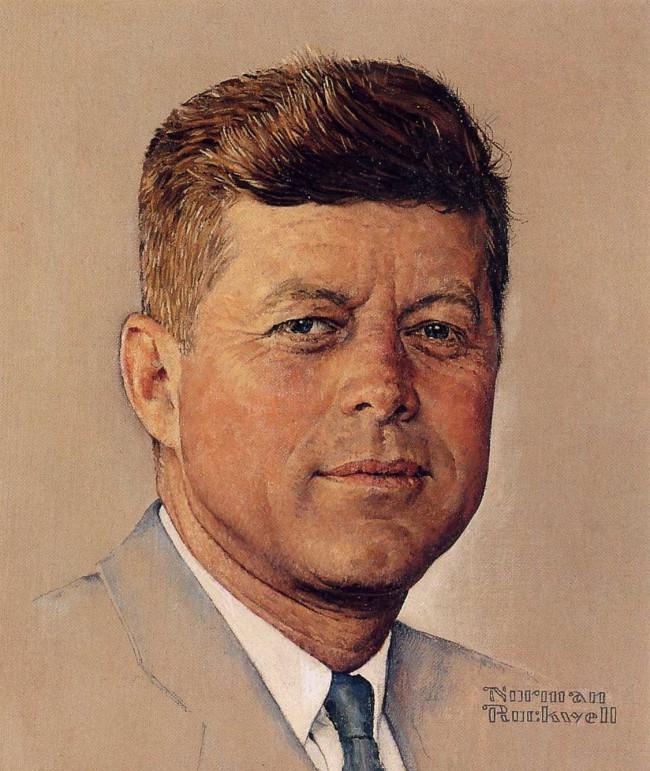 Norman Rockwell Portrait of John F. Kennedy