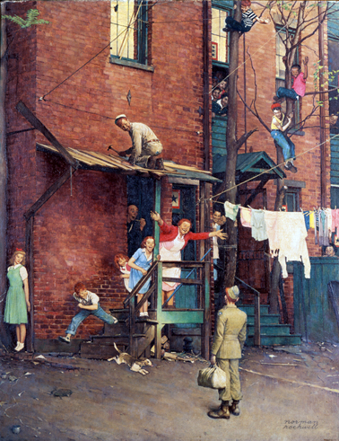 "orman Rockwell (1894-1978), ""The Homecoming,"" 1945"