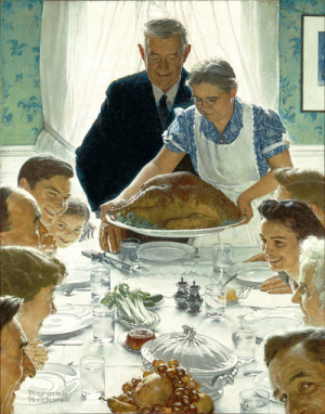 """Norman Rockwell (1894-1978), """"Freedom From Want,"""" 1943."""